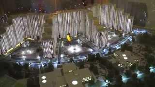 Архитектурный макет жилого микрорайона «Одинбург»