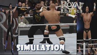 WWE 2K16 SIMULATION: Royal Rumble match 2016 Highlights