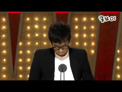 [11/19/2010] Won Bin 원빈 남우주연상 수상소감!! HQ