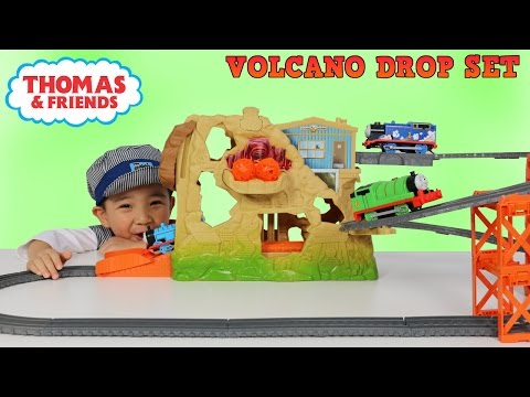 Thomas and Friends Trackmaster Volcano Drop Motorized Play Set Unboxing With CKN Toys