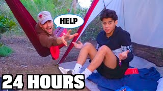 Surviving 24 HOURS in the FOREST!!
