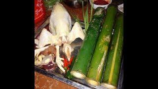 GÀ NƯỚNG ỐNG TRE Kiểu SƠN Dược   | CHICKEN Grilled BAMBOO|