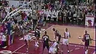 "Bulls vs Blazers 1992 Finals - Game 1 - Michael Jordan 39 points, ""The Shrug"""
