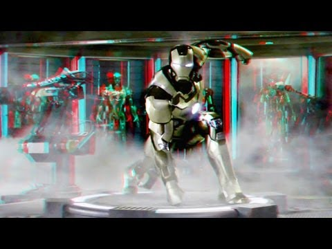 Iron Man 3 - Clip (2013)(3D)(Side By Side) Mark 42 Test