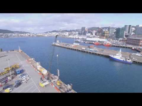Drone over Wellington Waterfront