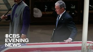George W. Bush makes history with emotional eulogy