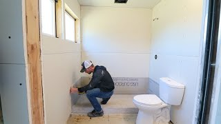 Our SHIPPING CONTAINER Bathroom!