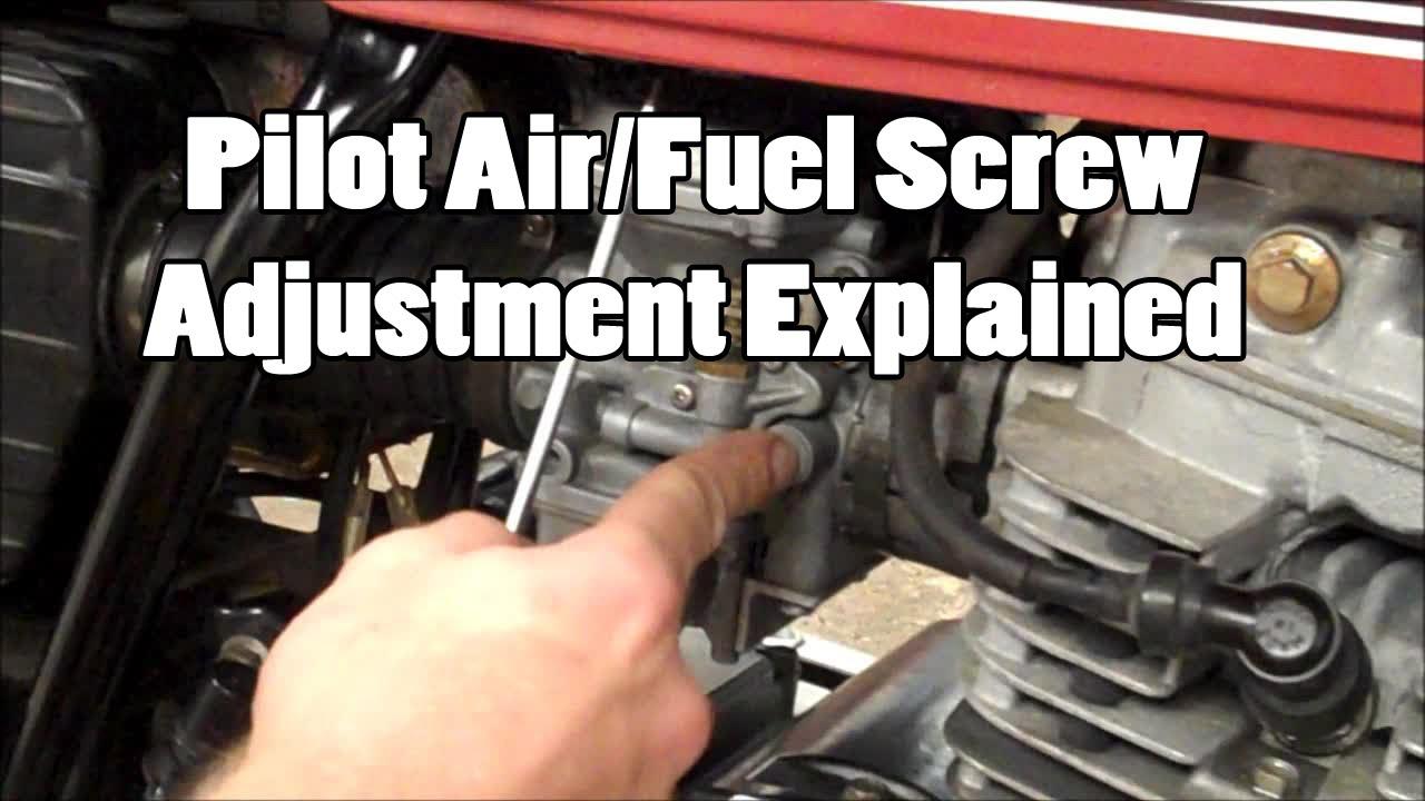 Pilot Air Fuel Screw Adjustment Explained Youtube