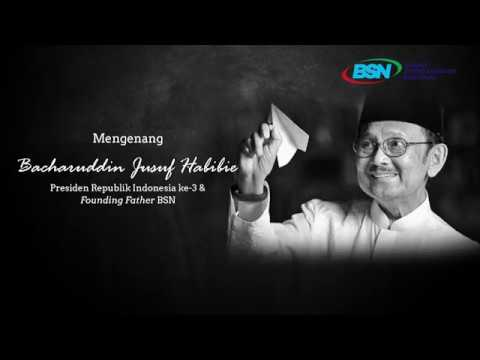 https://youtu.be/zmY1Yn8FUlIMengenang Bacharuddin Jusuf Habibie, Presiden Republik Indonesia ke-3 & Founding Father BSN