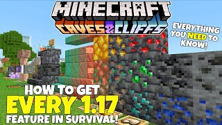 How To Get EVERY NEW 1.17 Block Item & Mob In Survival Mode! Minecraft Caves And Cliffs Update