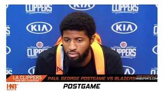 Paul George postgame Portland Trailblazers vs LA Clippers 8.8.20