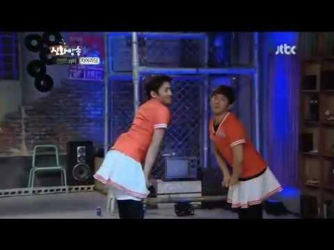 Shinhwa's Eusha cheerleading cut on Shinbang
