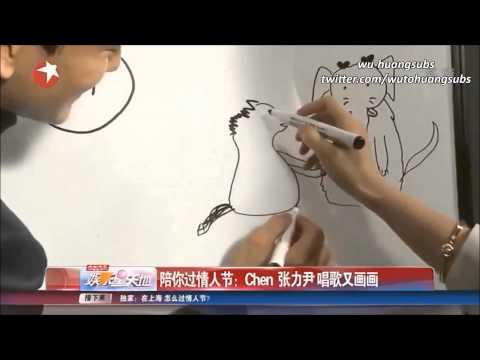 [HD/ENG] 140214 娱乐星天地 EXO Chen & Zhang Liyin Interview