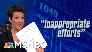 House: Whistleblower Alleges Undue Influence On Trump Tax Audit   Rachel Maddow   MSNBC