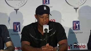 Tiger Woods news conference upon return to competitive golf at Hero World Challenge in the Bahamas