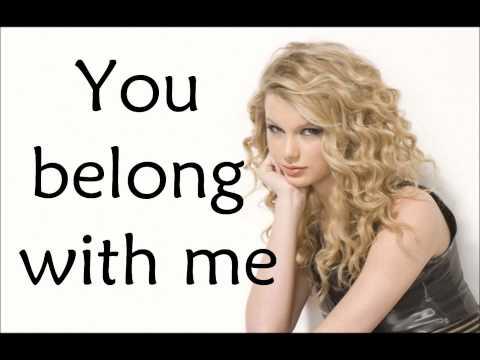 Taylor Swift You Belong With Me - Lyrics