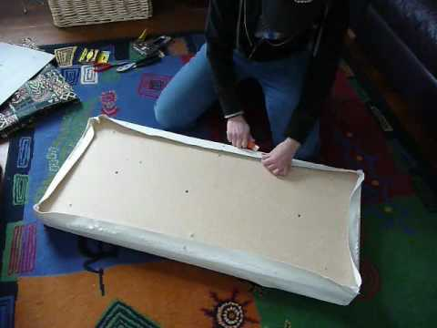 How To Re Cover A Bench Seat Part 1 Youtube