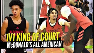 1 v 1 King Of The Court McDonald's All American Edition!! Cole Anthony, Tre Mann & more!