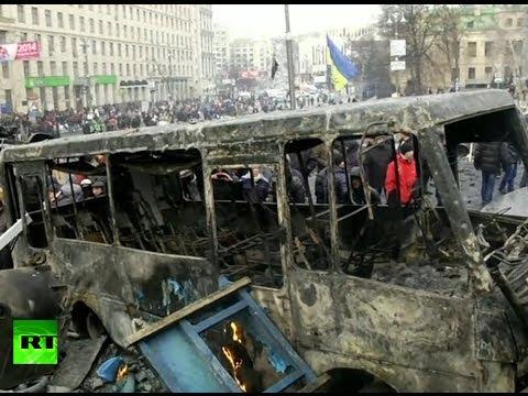 Havoc in Ukraine: Central Kiev turned into battleground