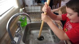 Piranha Predicament. Aggressive Piranha Fish Toy Clogs the Drain!
