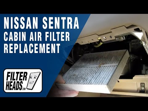 Cabin Air Filter Replacement Nissan Sentra Youtube