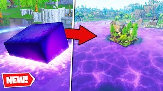 *NEW* CUBE MELTS into LOOT LAKE - Fortnite Battle Royale