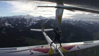 Daring skydive stunt