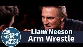 Jimmy Fallon and Liam Neeson Arm Wrestle