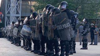 KSP at Louisville protests alongside LMPD