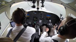 Lufthansa Cadet Chris performing SMOOTH Citation CJ1 Touch & Go despite some winds!!! [AirClips]