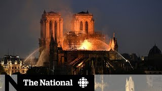 Fire engulfs historic Notre-Dame Cathedral
