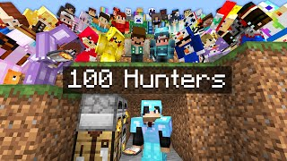Minecraft Manhunt but it's VS 100 Hunters..
