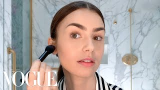 Lily Collins's Day-to-Night French Girl Look | Beauty Secrets | Vogue