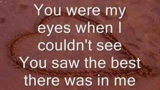 Because You Loved Me -LYRICS