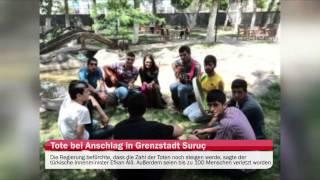 Türkei: Dutzende Tote bei Anschlag in Grenzstadt Suruç