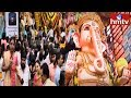 వైభవంగా ఖైరతాబాద్ మహాగణపతి ఉత్సవాలు | Huge Rush Of Devotees At Khairatabad Ganesh | hmtv Telugu News