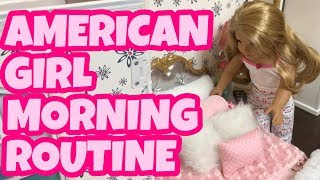 AMERICAN GIRL STOP MOTION MORNING ROUTINE