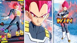 STOPPING RISING RUSH WITH SSG VEGETA! Dragon Ball Legends Super Saiyan God Vegeta 498%