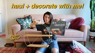 room decor haul + decorate with me