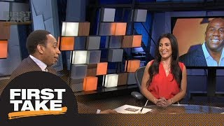 Stephen A. Smith: Magic Johnson has 'something up his sleeve' for free agency | First Take | ESPN