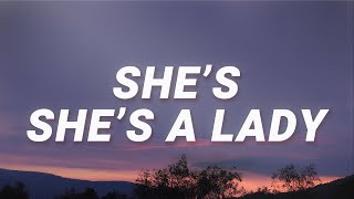 Ricky Montgomery - She is she is a lady (Line without a hook) (Lyrics)