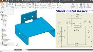 Autodesk Inventor Sheet metal Tutorial Basics
