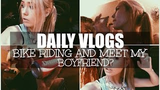 BIKE RIDING AND MEET MY BOYFRIEND?  // Daily Vlogs 7-27-15
