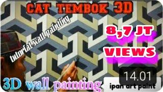 Cat tembok 3D- 3D wall painting- tutorial cat tembok 3D