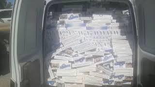 Contrabandista é preso e policiais apreenderam cigarros em Candiota