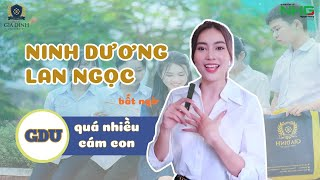 """Ninh Dương Lan Ngọc """"vui mừng"""" vì gặp quá nhiều fan ở GDU"""