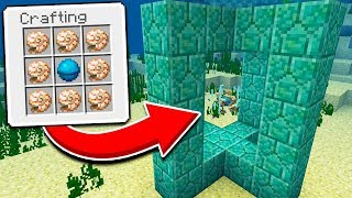How to Use a CONDUIT in Minecraft PE 1.5.0 UPDATE (Conduit, Heart of the Sea, Nautilus Shell)