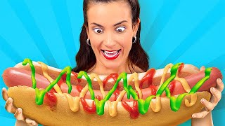 GIANT FOOD VS MINIATURE! || Funny Challenges For True Giants by 123 Go! Live