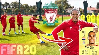 LIVERPOOL FC FREE KICK CHALLENGE! ⚽💥 FT. VAN DIJK, ALEXANDER-ARNOLD & FIRMINO | FIFA 20 RATINGS!