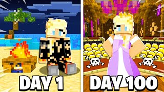 I Survived 100 Days as a Pirate Princess in Minecraft!